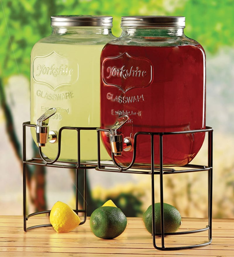 Circleware Yorkshire Glass 3.78 L Dispenser - Set of 2