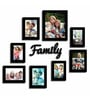 Family Black Wood & Glass 8-photo Frame by Art Street