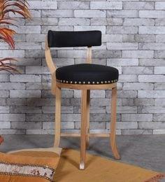 Club Bar Chair In Black Colour Upholsterey
