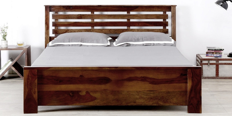 Lynnwood King Bed in Provincial Teak Finish by Woodsworth
