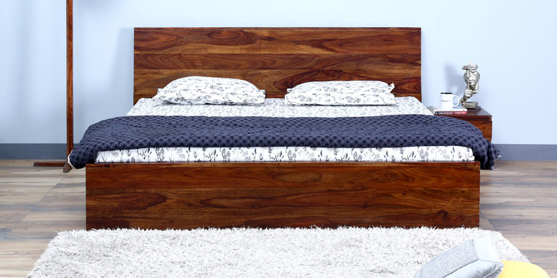 Claremont Queen Size Bed in Provincial Teak Finish by Woodsworth
