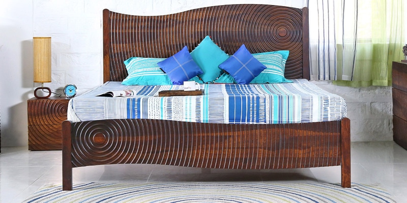 Espiral Queen Bed in Provincial Teak  Finish by  Woodsworth