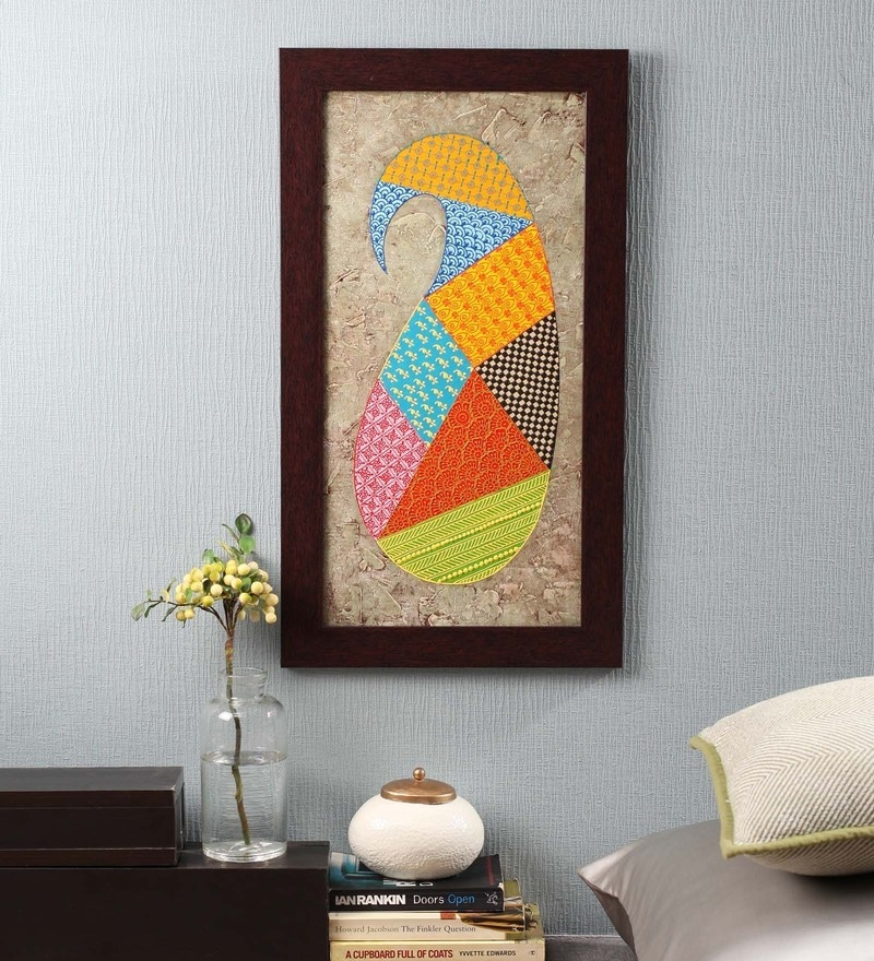 Multicolour Canvas 14 x 0.8 x 25 Inch Paisley Framed Wall Art Painting by ClasiCraft