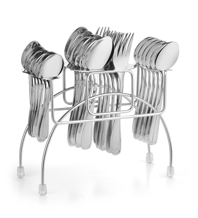 Classic Essentials Steel Cutlery Set - Set of 24