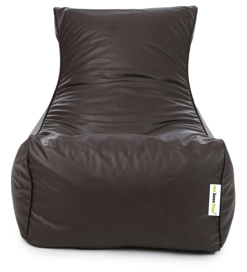 Classic Lounger XXXL Bean Bag With Beans In Brown Colour By Can