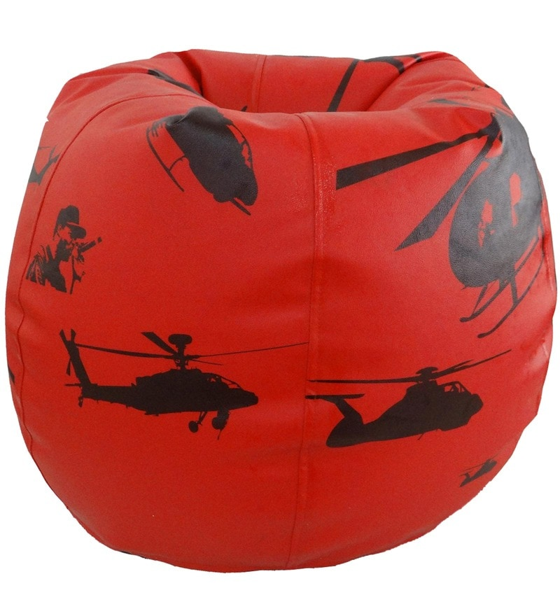 Helicopter Theme Kids Bean Bag Cover in White Colour by Orka