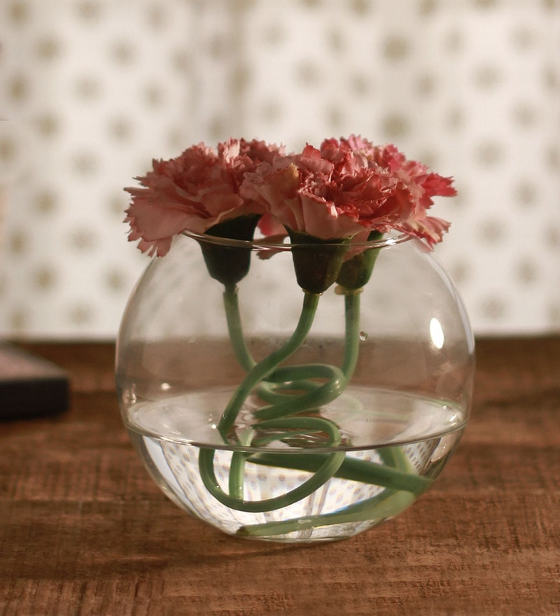 Clear Glass Flora Round Flora Vase by Pasabahce