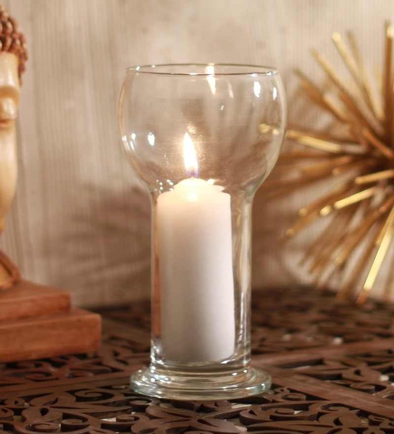 Clear Glass Lucilla Candle Holder by Bormioli Rocco