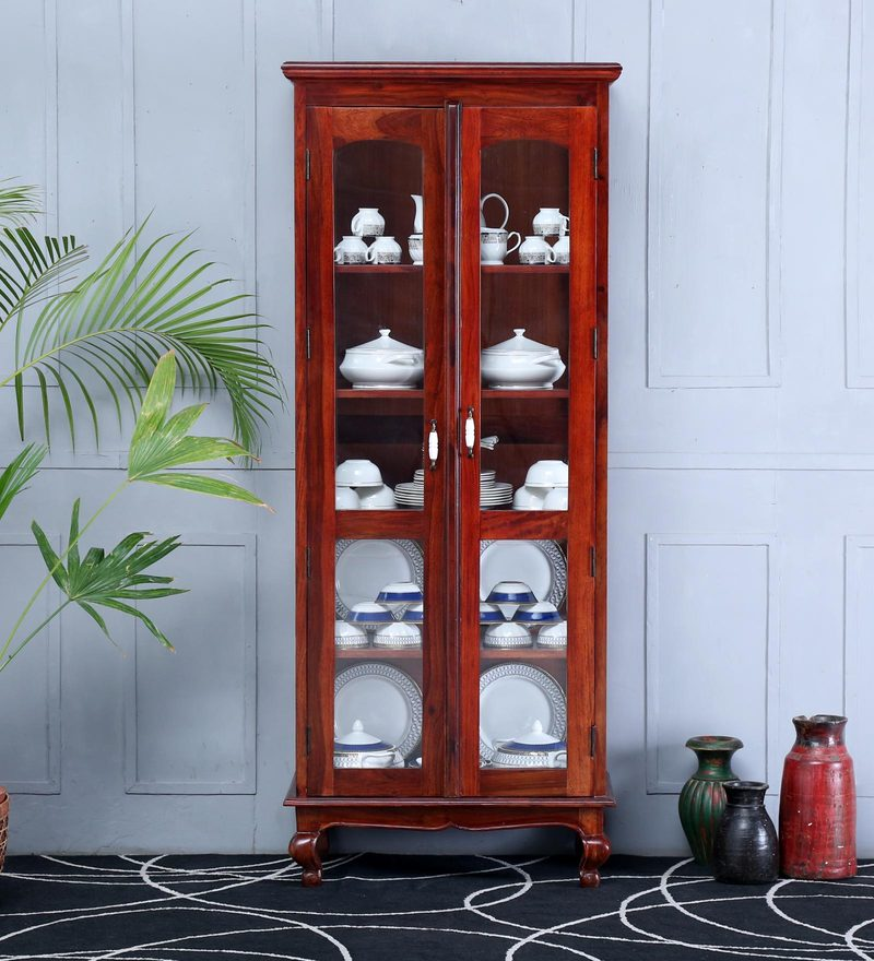 Clifford Hutch Cabinet Honey Oak Finish by Amberville