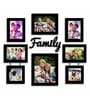 Art Street Family Black Wood & Glass 8-photo Frame