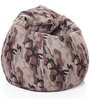 Classic Cotton Camouflage Design Bean Bag XL Size with Beans by Style Homez