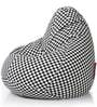 Classic Checkered XXL Bean Bag with Beans in Multicolour by Style HomeZ