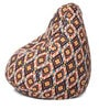 Classic Cotton Canvas Geometric Design Bean Bag XL Size Cover Only by Style Homez