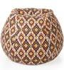 Classic Cotton Geometric Design Bean Bag XXL Size with Beans by Style Homez