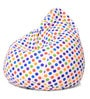Classic Cotton Canvas Polka Dots Design Bean Bag XL Size Cover by Style Homez