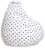 Star Design XL Bean Bag with Beans in Multicolour by Style HomeZ