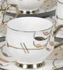 Clay Craft Karina Ebony 291 Bone China 130 ML Cup & Saucer - Set of 6
