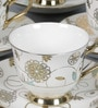 Clay Craft Ngeorgian Ebony E246 Bone China 100 ML Cup & Saucer - Set of 6