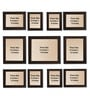Clixicle Brown Synthetic Wood & Acrylic 38 x 1 x 28 Inch Wall Decor 11-piece Collage Photo Frame