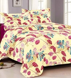 Cocobee Pink 100% Cotton King Size Bedsheet - Set Of 3