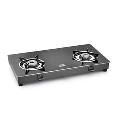 Cookplus CS-2GT Lava Glass 2 Burners Gas Stove at pepperfry