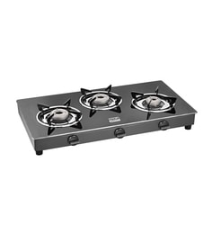 Cookplus CS-3GT Lava Glass 3 Burners Gas Stove at pepperfry