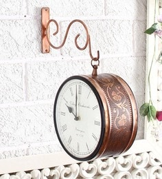 Copper Brass Vintage Station Clock Wall Clock