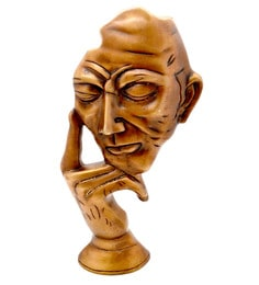 Copper Brown Brass The Thinking Man Tableware Show Piece