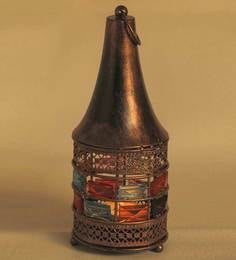 Aapno Rajasthan Brown Metal Tea Light Holder