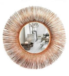 Copper Glass And Metal Leron Wall Mirror
