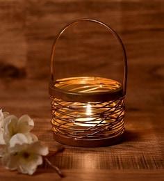 Copper Metal Tea Light Holder - 1708337