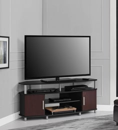 carson corner tv unit in brown