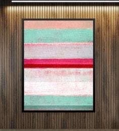 Cotton Canvas 36 X 1.5 X 60 Inch Pink & Green Abstract Art Framed Digital Art Print