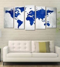 Art panels buy art panels online in india at best prices pepperfry cotton canvas 787 x 1 x 398 inch blank world map framed art panels gumiabroncs Image collections