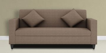 Cooper Three Seater Sofa in Grey Colour by ARRA at pepperfry