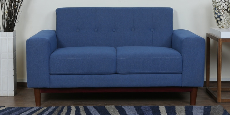 Cordoba Two Seater Sofa in Denim Blue Colour by CasaCraft