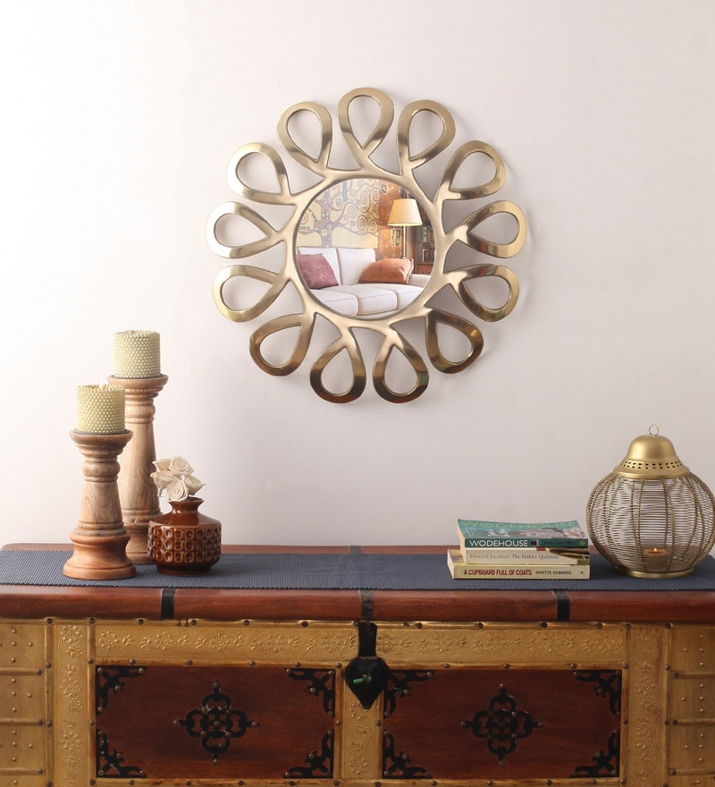 Cocovey Gold Aluminium Sunburst Decorative Mirror