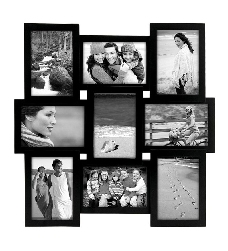 Black Synthetic Wood 4 x 6 Inch Photo Frame Collage by Snap Galaxy