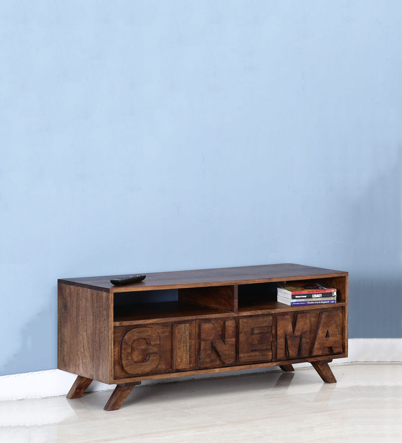 Colomac Entertainment Unit in Provincial Teak Finish by Bohemiana