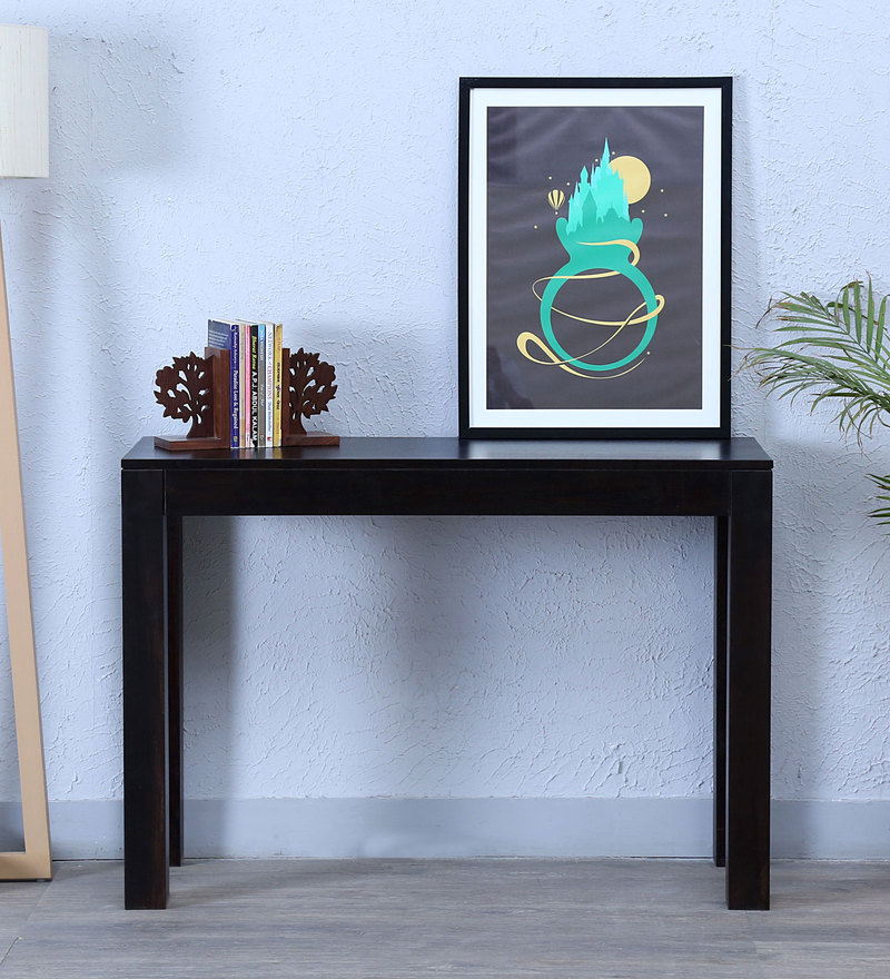 Enkel Console Table in Warm Chestnut Finish by Woodsworth