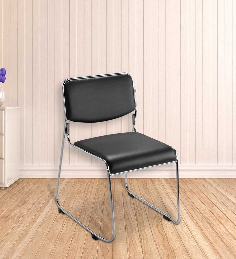 Contract Metal Chair In Black Colour By Nilkamal