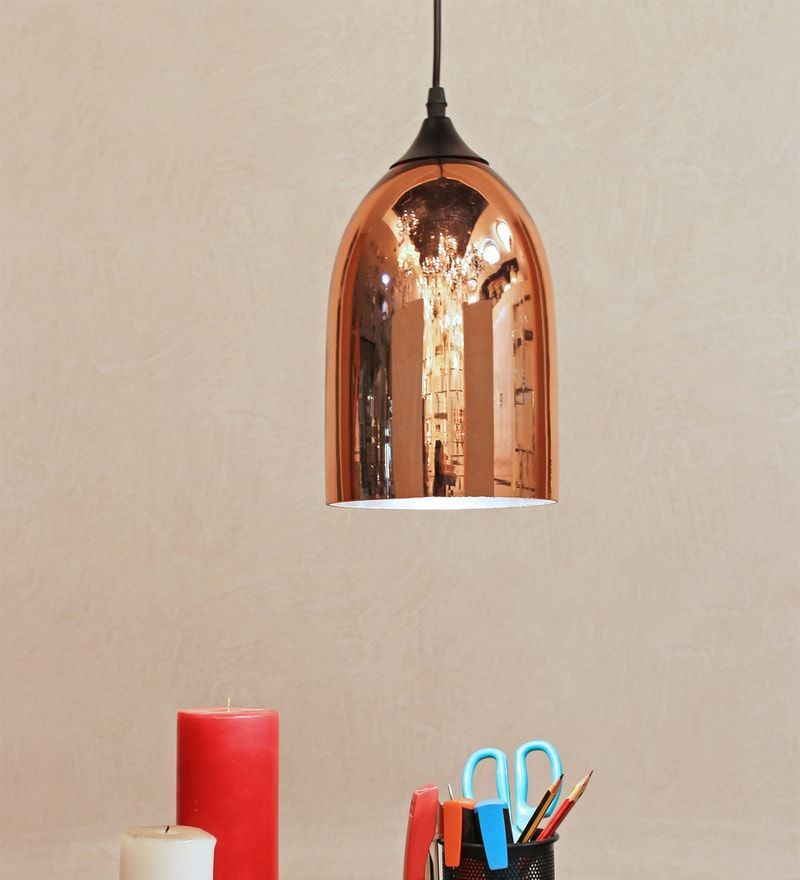 Copper Glass Pendant by The Light Store