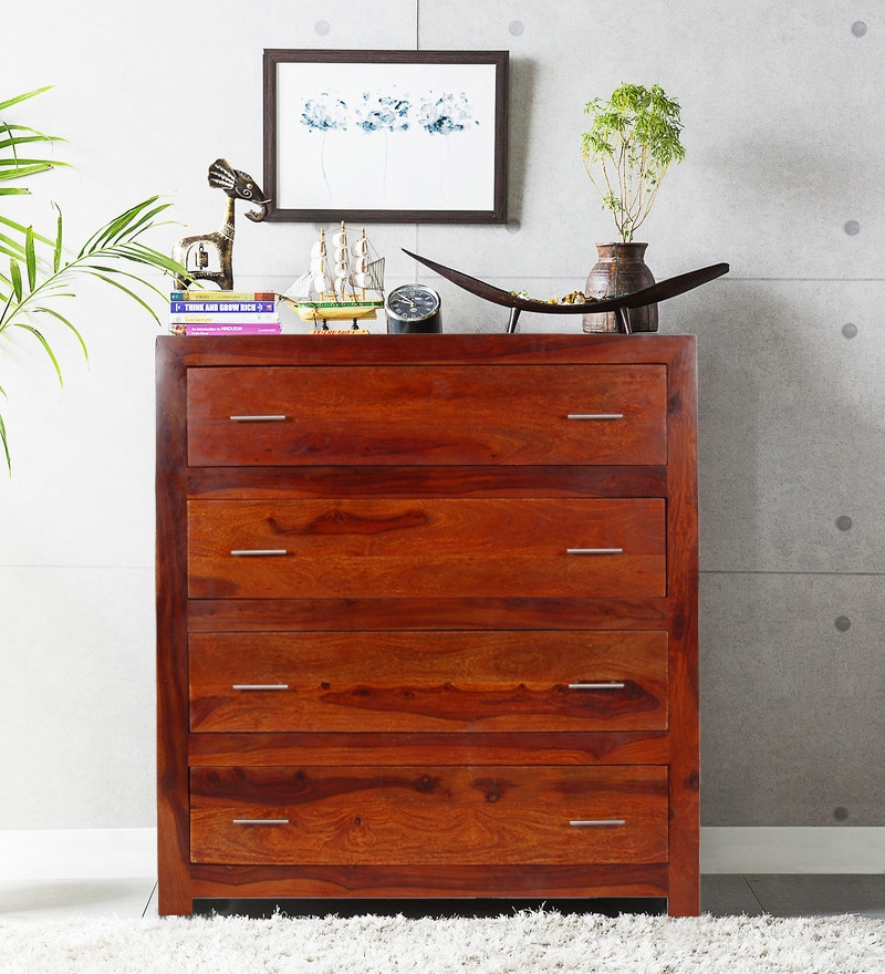 Edmonds Chest of Four Drawers in Honey Oak Finish by Woodsworth