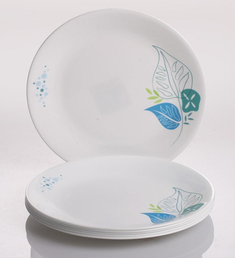 Buy Corelle Foliage Vitrelle Glass Dinner Plates Set Of