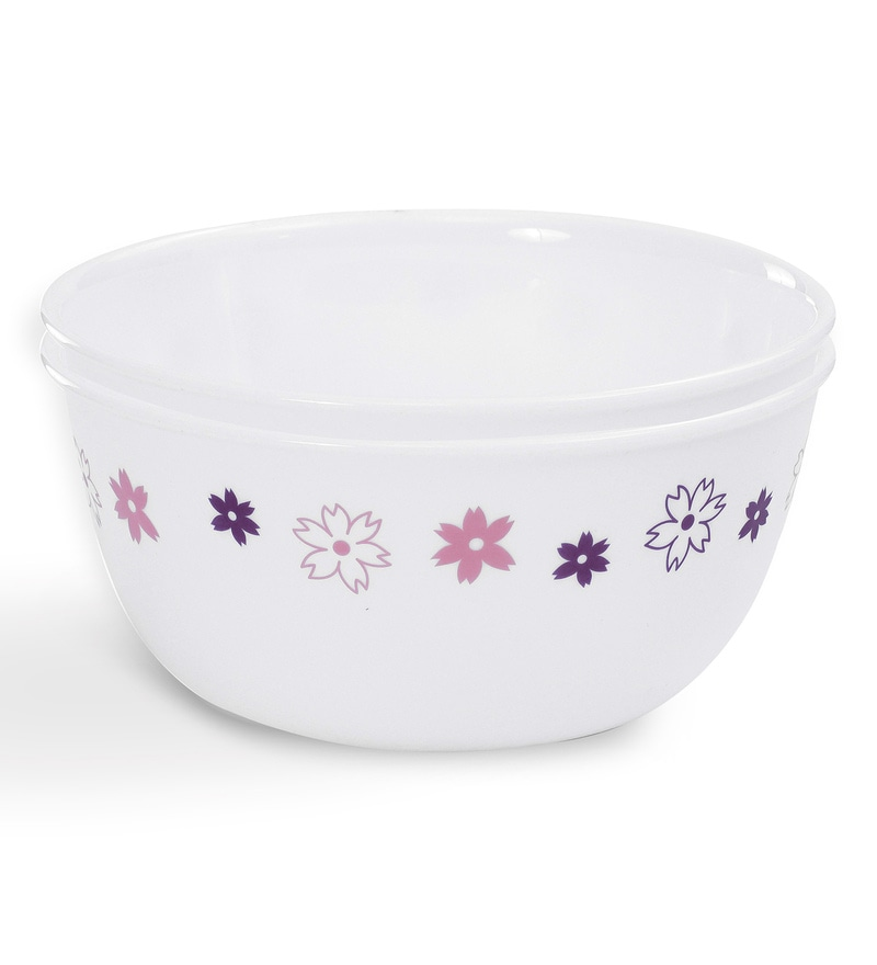 Corelle Livingware Floral Fantasy 2 Pcs Free Curry Bowl