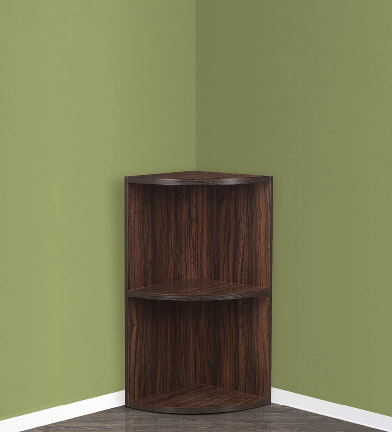 Corner Rack in Brown Finish by Crystal Furnitech