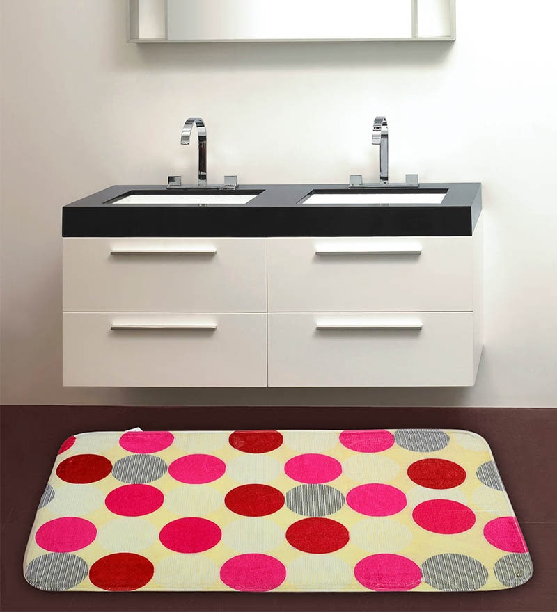 Polka Dots Multicolour 100% Cotton Bath Mat by Cortina