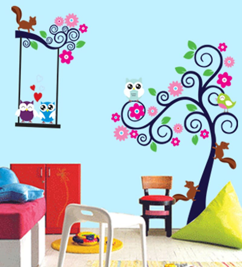 Vinyl Happy Owl Theme Wall Sticker by Cortina