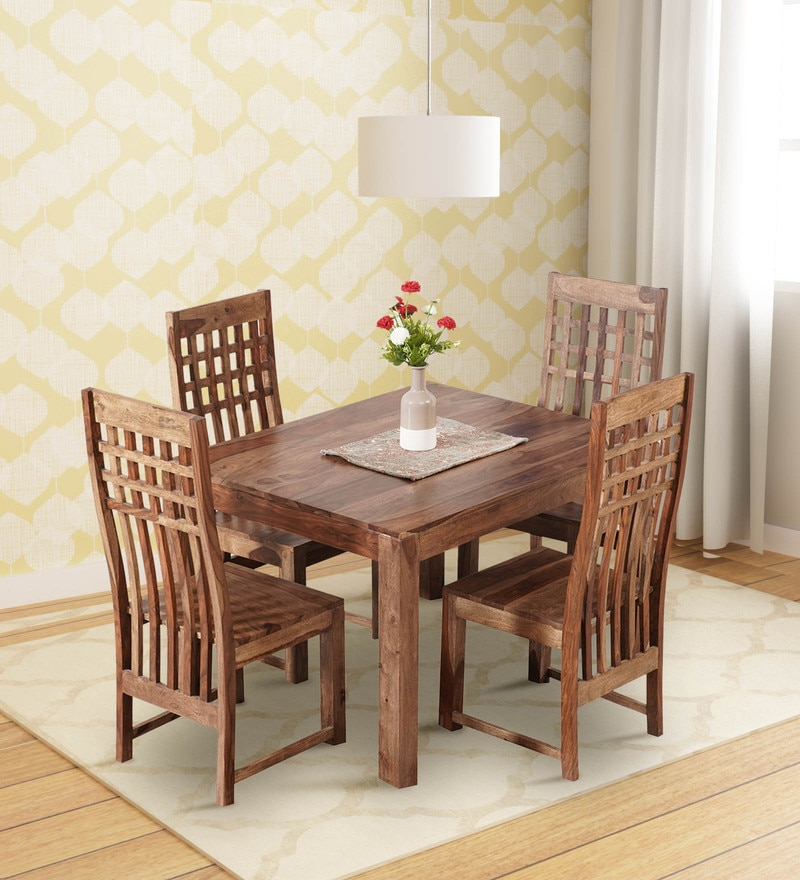 Costa Four Seater Dining Set In Natural Finish By Trendsbee