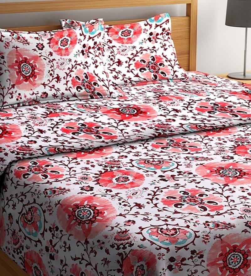 Floral Printing Bedding Set Duvet Quilt Cover+Sheet+Pillow Case Four-Piece Set